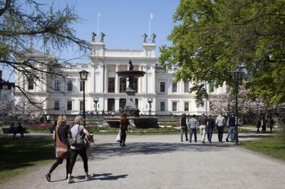 Studenter utanför Lunds universitet