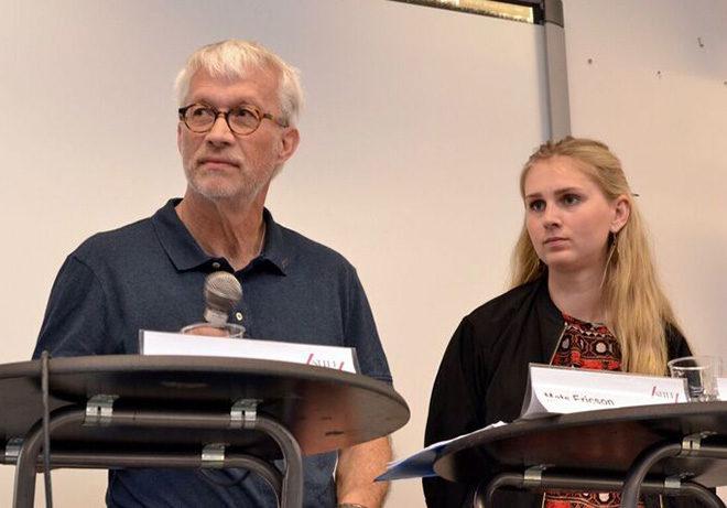 Mats Ericsson, ordförande för SULF och Charlotta Tjärdahl, vice ordförande för SFS.