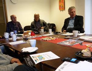 SULF/Chalmers diskuterar jämställdhet på fika med facket. Foto: Friedrich Heger