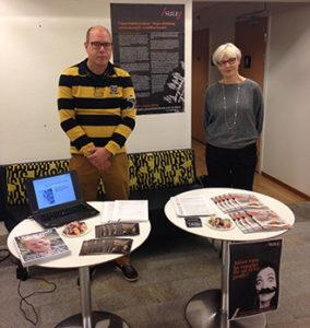 Pär Sundén och Daina Dagis är redo för SULF-dagen vid Musikhögskolan i Piteå, som är en del av Luleå tekniska universitet. Foto: Pernilla Jönsson