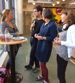 SULF vid Mälardalens högskola i Eskilstuna träffar medlemmar och studenter.