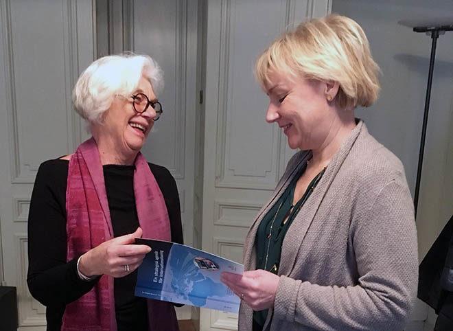 Agneta Bladh och Helene Hellmark Knutsson