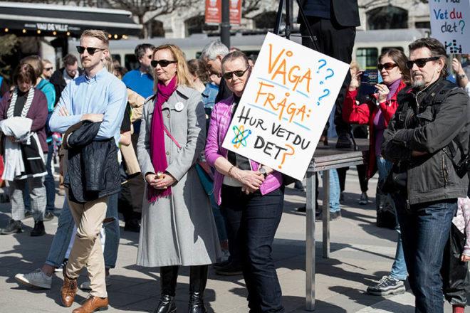 Kampanj #Hurvetdudet? i Stockholm 14 april 2018