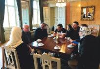 nyanlända på möte i Chalmerska huset i Göteborg.
