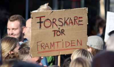 Klimatdemonstration Uppsala Forumtorget