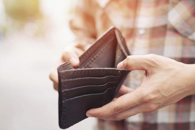En tom plånbok